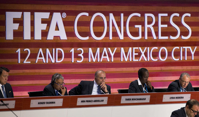 FIFA council members listen during the 66th FIFA Congress, in Mexico City, on Friday, May 13, 2016. Photo: Rebecca Blackwell/AP