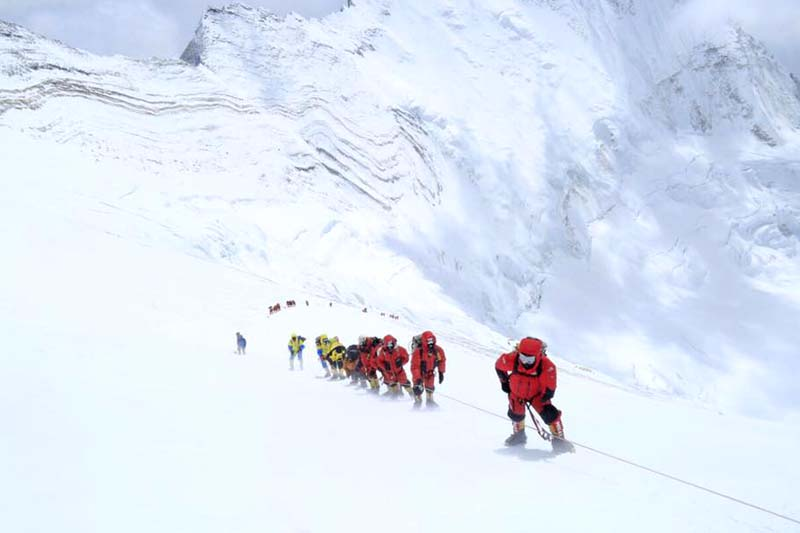 Mount Everest climbers. Photo Courtesy: Ranveer Jamwal