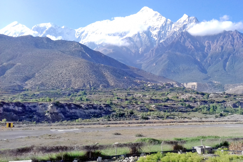 A panoramic view of Mt. Nilgiri as seen from Jomsom of Mustang district, on Friday, May 27, 2016. Photo: RSS