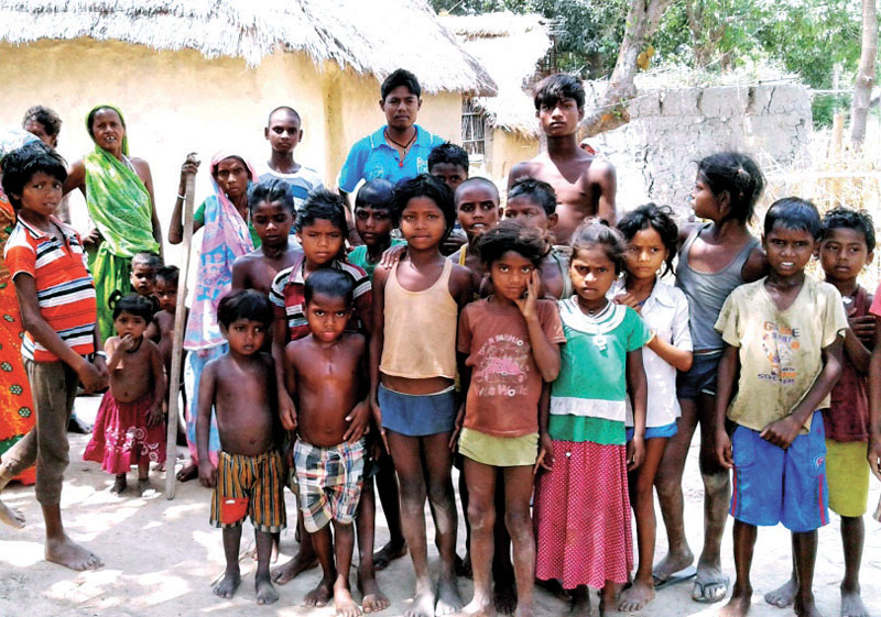 FILE - People from the Musahar community posing for a picture in Kochabakhari,  Saptari, on Saturday, May 21, 2016. Photo: THT