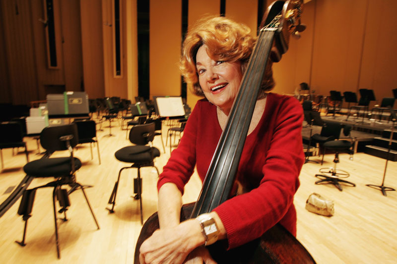 Jane Little, an Atlanta Symphony Orchestra bassist, poses for a photo in Atlanta, on November 15, 2007. Photo: Louie Favorite/Atlanta Journal-Constitution via AP