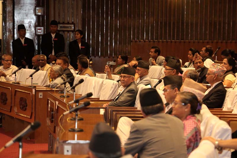 Lawmakers partipate in the Parliament meeting on Thursday, May 26, 2016. Photo: RSS
