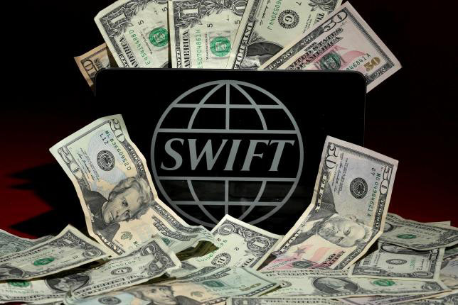 The SWIFT logo is pictured on April 26, 2016. Photo: Reuters
