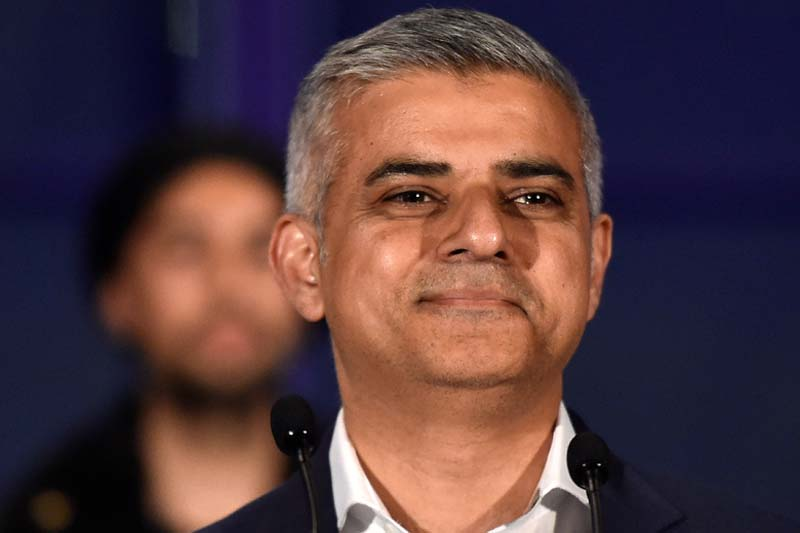 Sadiq Khan, Britain's Labour Party candidate for Mayor of London, smiles following his victory in the London mayoral election at City Hall in London, Britain, on May 7, 2016. Photo: Reuter