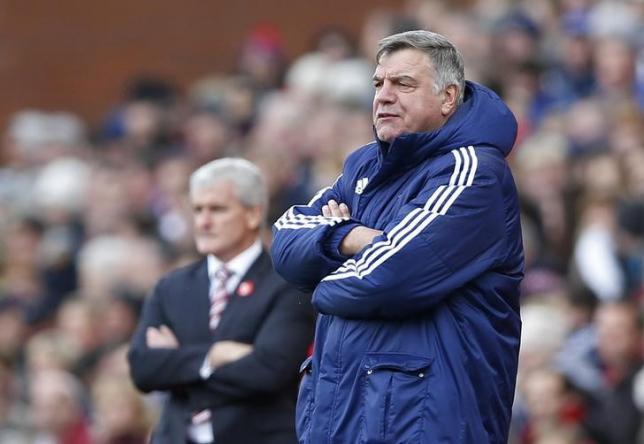 Sunderland manager Sam Allardyce and Stoke manager Mark Hughes.nAction Images via Reuters / Carl Recine/ Livepic