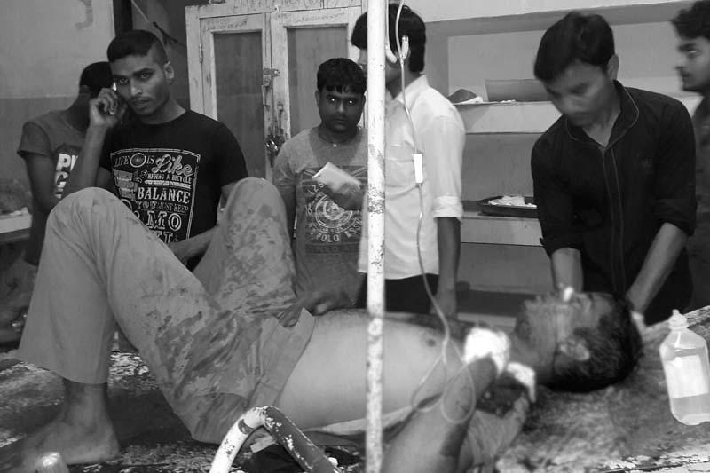 Shyam Sah, driver of kidnapped industrialist Suresh Kedia, at the Narayani Sub-Regional Hospital, in Birgunj, on Thursday, May 26, 2016. Photo: Ram Sarraf