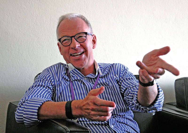 Simon Perkins, the Managing Director of Ncell, appointed  by Axiata. Photo: Balkrishna Thapa Chhetri/THT