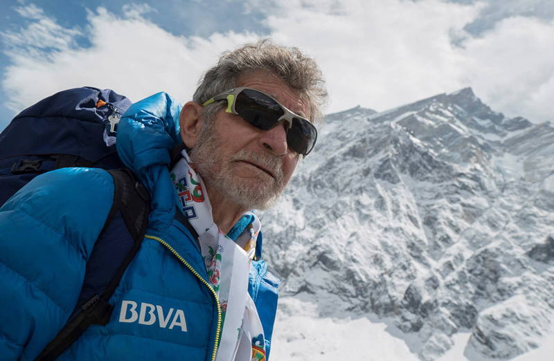Spanish climber Carlos Soria Fontan stands on a mountain in this undated file photo. Courtesy: Carlos Soria Fontan