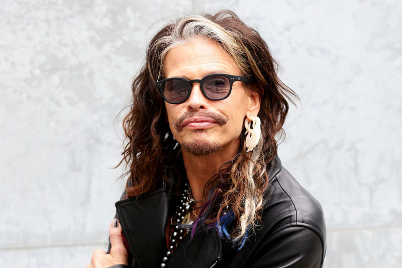 Steven Tyler attends the Emporio Armani show during Milan Menswear Fashion Week Spring Summer 2015 on June 23, 2014 in Milan, Italy.Photo: Vittorio Zunino Celotto/Getty Images