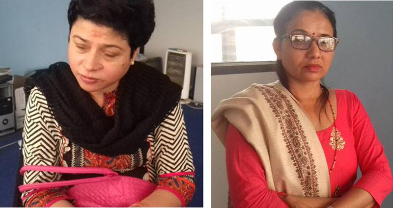 Sweta Singh (L) and Laxmi Pokharel. Photo: RSS