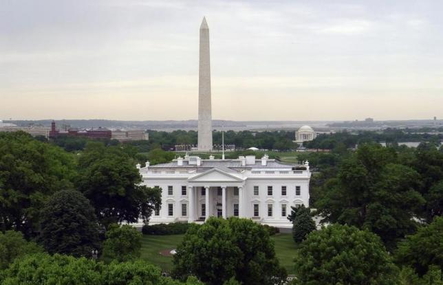 File-The White House is seen with the Washington Monument (left) behind it and the Jefferson Memorial (right) in Washington, May 1, 2011. Photo: Reuters