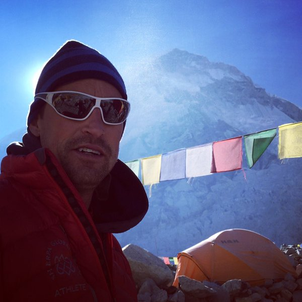 Kenton Cool in the Mt Everest Base Camp. Photo: Twitter/KentonCool