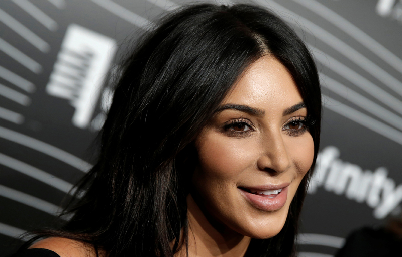 Kim Kardashian West participates in a television interview as she arrives for the 20th Annual Webby Awards in Manhattan, New York, US, May 16, 2016. Photo: Reuters