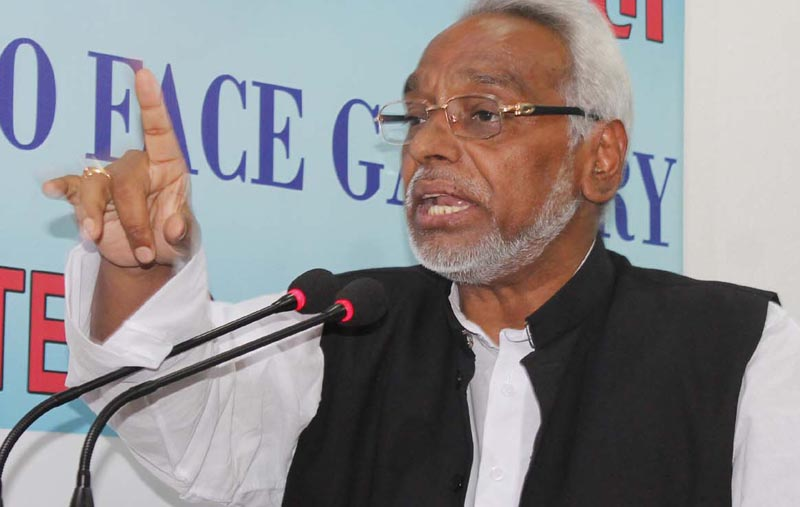 Rajendra Mahato speaking at the Reporters Club in Kathmandu on Tuesday, May 24, 2016. Photo: Reporters' Club