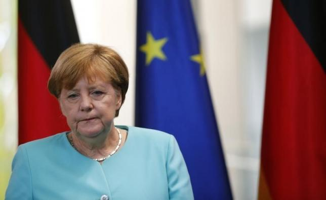 German Chancellor Angela Merkel arrives for a statement in Berlin, Germany, on June 24, 2016, after Britain voted to leave the European Union in the EU BREXIT referendum. Photo: Reuters