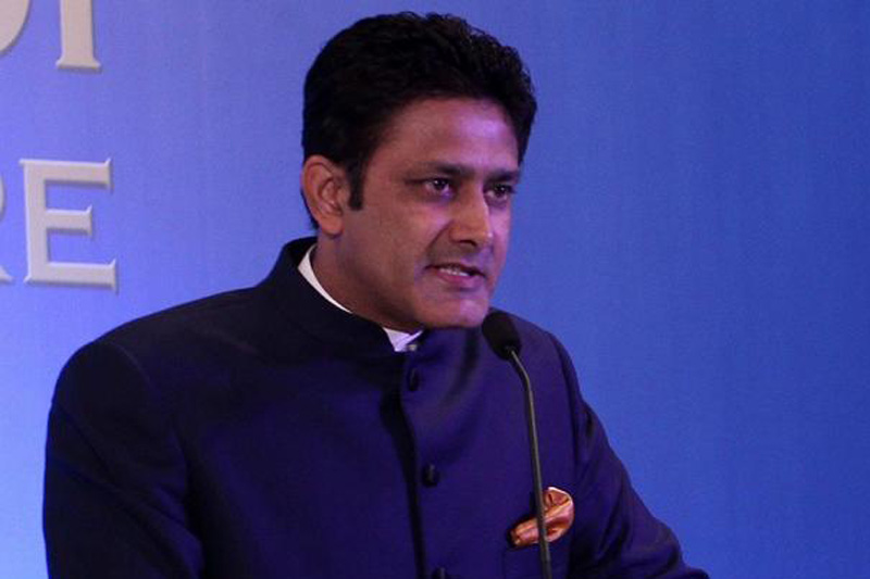 Newly appointed Head coach of India cricket team, Anil Kumble speaking with journalists in Mumbai on Thursday, June 23, 2016. Photo: BCCI via THT Online