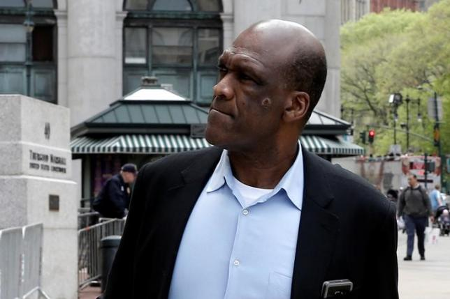 John Ashe, former United Nations General Assembly president and U.N. ambassador from Antigua and Barbuda, arrives at the Manhattan U.S. District Courthouse in New York, U.S., May 9, 2016. REUTERS/Mike Segar