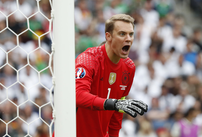 Germany's Manuel Neuer during Euro 2016 against Norther Ireland at Parc des Princes in Paris on Tuesday, June 21, 2016. Photo: Reuters
