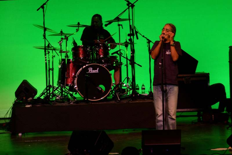 Nepathya's frontman, Amrit Gurung, performs at the Barnum Hall, in Los Angeles, on Saturday, June 25, 2016. Photo Courtesy: Nepa~laya