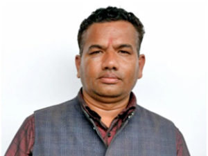 Raju Upreti of Nuwakot was arrested on charge of swindling five persons of fortune. Photo: Nepal Police's MPCD via THT Online