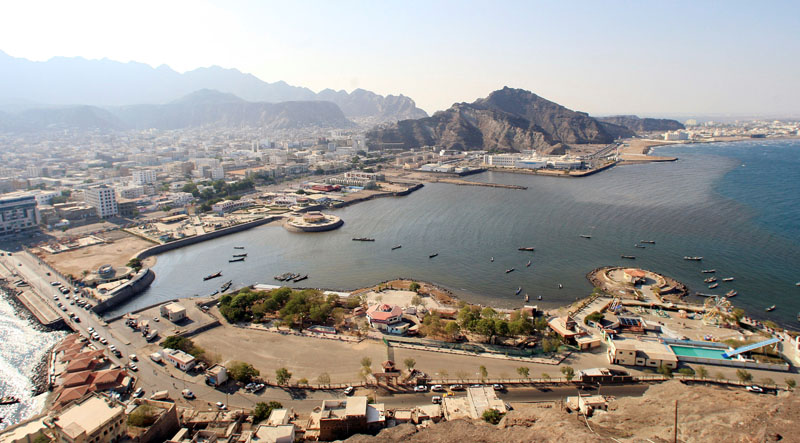 An aerial view shows Aden's City in southern Yemen, on November 30, 2010. Photo: Reuters