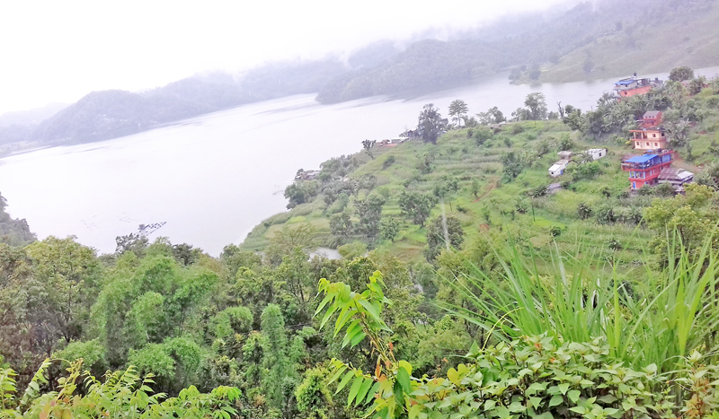 A Spectacular view of the Begnas Lake in the Lekhanath Municipality as seen from nearby Magar Danda in Kaski district, on Friday, July 1, 2016.