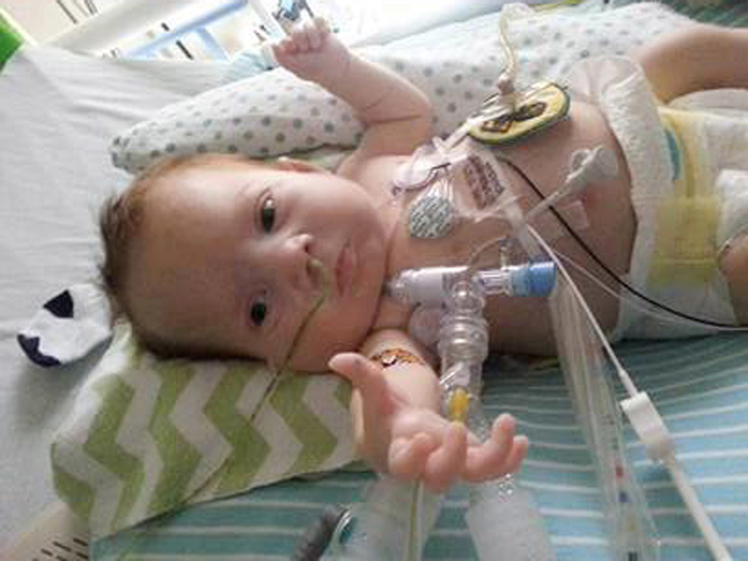Corbin, the baby who lived for four months after his birth in April 2013. Photo: Kara McHenry via AP