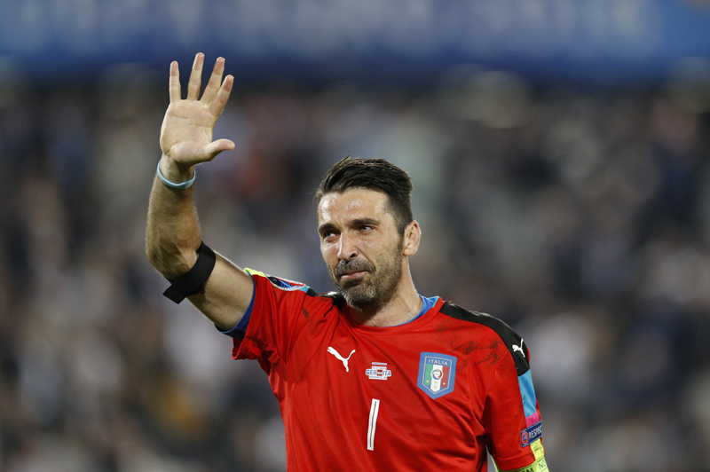 Italy's Gianluigi Buffon reacts after the penalty shootout against Germany at the Euro 2016 quarter-final at the Stade de Bordeaux in Bordeaux of France, on Saturday, July 2, 2016. Photo: Reuters