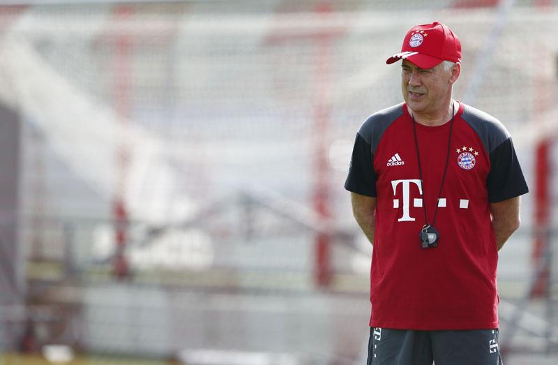 Bayern Munich's new coach Carlo Ancelotti attends first team training as Bayern Munich manager Photo: Reuters/File