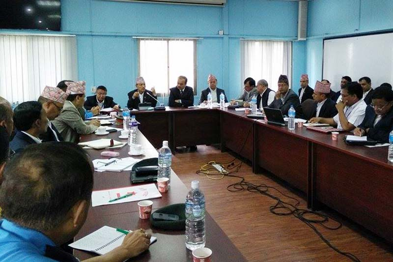 A meeting of the Central Disaster Relief Committee takes place in Kathmandu, on Wednesday, July 27, 2016. Photo: RSS