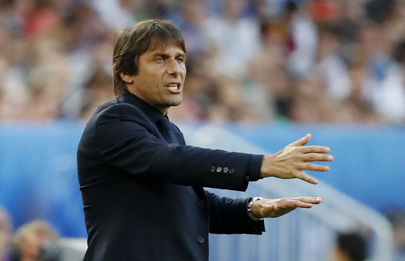 Italy head coach Antonio Conte during Euro 2016 quarter final against Germany at Stade de Bordeaux, in France on Saturday, July 2, 2016. Photo: Reuters