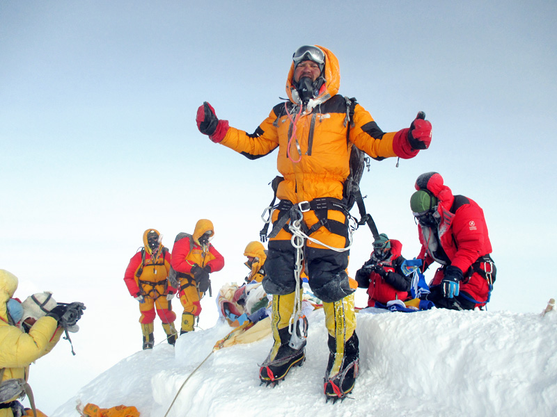 Satyarup's original photograph taken on Mt Everest
