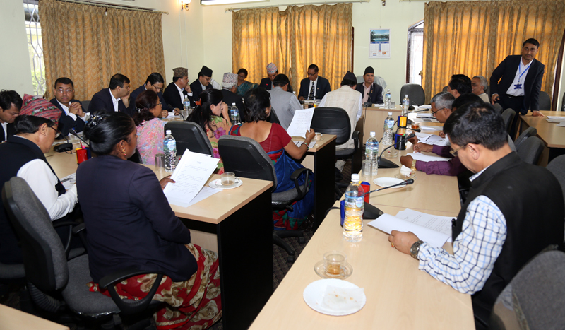Finance Committee of the Parliament holds a meeting in Kathmandu, on Monday, July 4, 2016. Photo: RSS