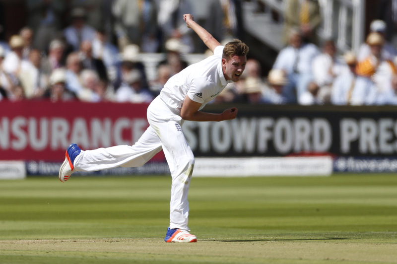 England's Jake Ball in action during First Test against Pakistan at Lord's on Thursday, July 14, 2016. Photo: Reuters