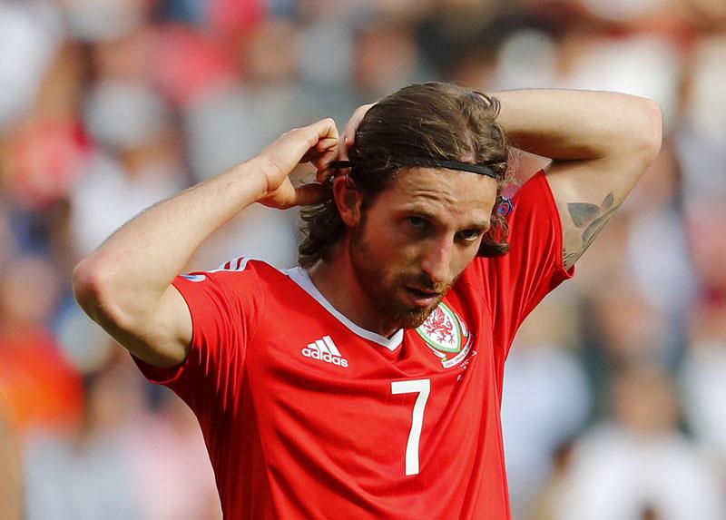 Wales' Joe Allen during the game against Northern Ireland at Parc des Princes on June 25, 2016. Photo: Reuters/Filen
