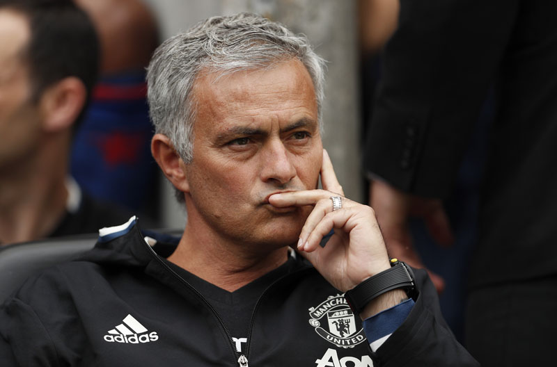 Manchester United manager Jose Mourinho watches on as his side play against Wigan Athletic in the pre-season friendly at the DW Stadium on July 17, 2016. Photo: Reuters/File