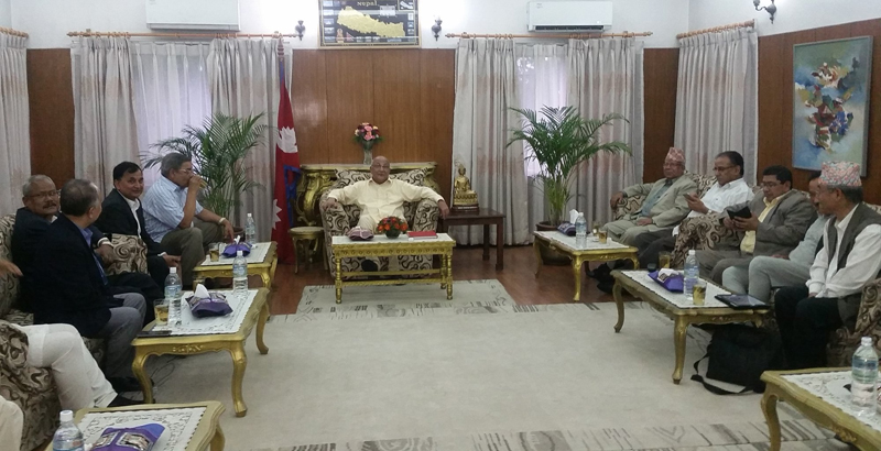 File - Leaders of ruling parties hold a meeting at the Prime Minister's residence in Baluwatar, on Sunday, July 10, 2016. Photo: https://twitter.com/PM_Nepal