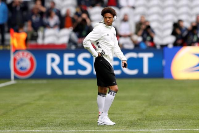 Football Soccer - Germany v Slovakia - EURO 2016 - Round of 16 - Stade Pierre-Mauroy, Lille, France - 26/6/16nGermany's Leroy Sane on the pitch before the gamenREUTERS/Carl RecinenLivepic