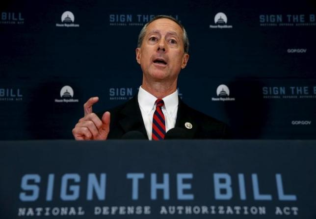 U.S. Representative Mac Thornberry (R-TX), chairman of the House Armed Services Committee, addresses a news conference following a House Republican caucus meeting at the U.S. Capitol in Washington, October 21, 2015.  REUTERS/Jonathan Ernst