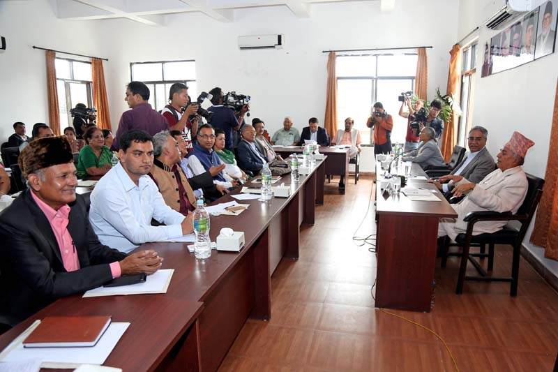 FILE - Leaders of Nepali Congress attend the Central Working Committee meeting at the Party Central Office, in Sanepa, on Tuesday, July 19, 2016. Photo: RSS