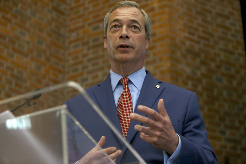 Nigel Farage, the leader of the United Kingdom Independence Party (UKIP), speaks at a news conference in central London, Britain July 4, 2016. Photo: Reuters/File