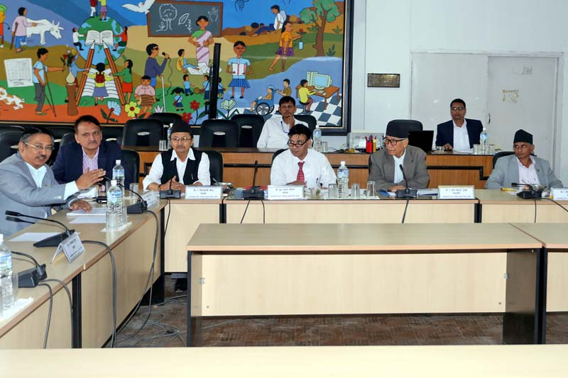 FILE: Members of the Parliamentary Special Hearing Committee attend a meeting at the Singhadurbar, in Kathmandu, on Sunday, July 31, 2016. Photo: RSS