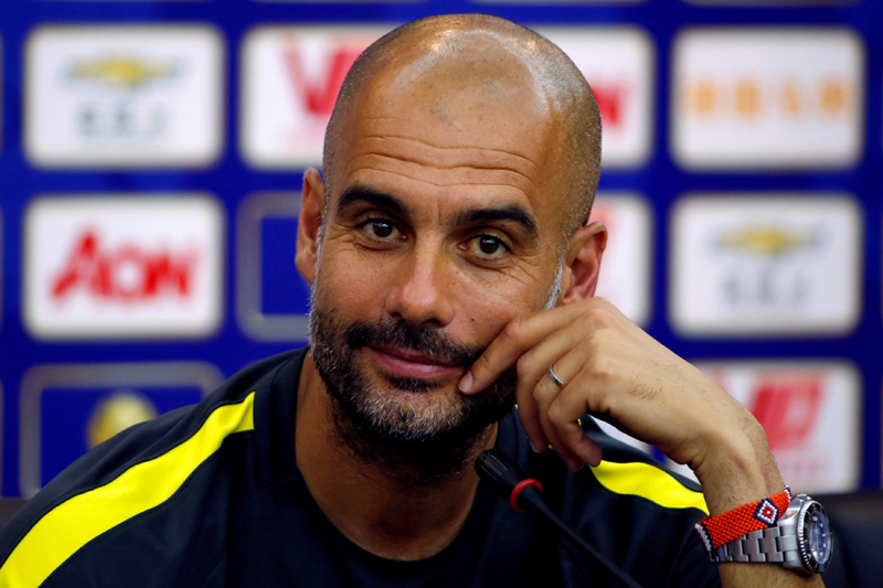 Manchester City team manager Pep Guardiola during press conference in China on Wednesday, July 27, 2016. Photo: Reuters