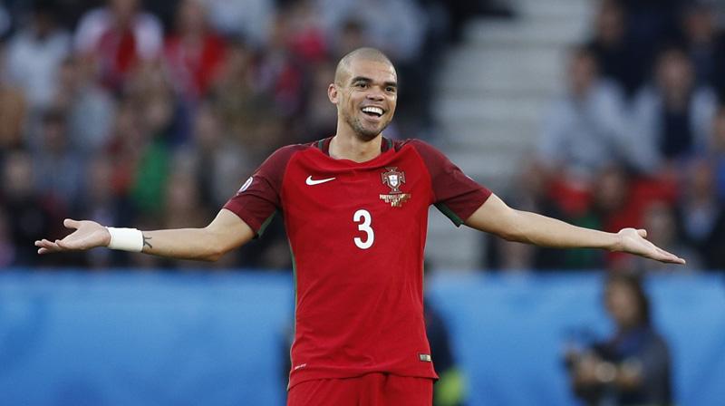 Portugal's Pepe reacts during Euro 2016 against Austria at Parc des Princes, Paris on June 18, 2016. Photo: Reuters