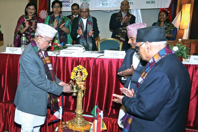 Prime Minister KP Sharma Oli inaugurating a workshop, in Kathmandu, on Tuesday, July 12, 2016. Photo: RSS