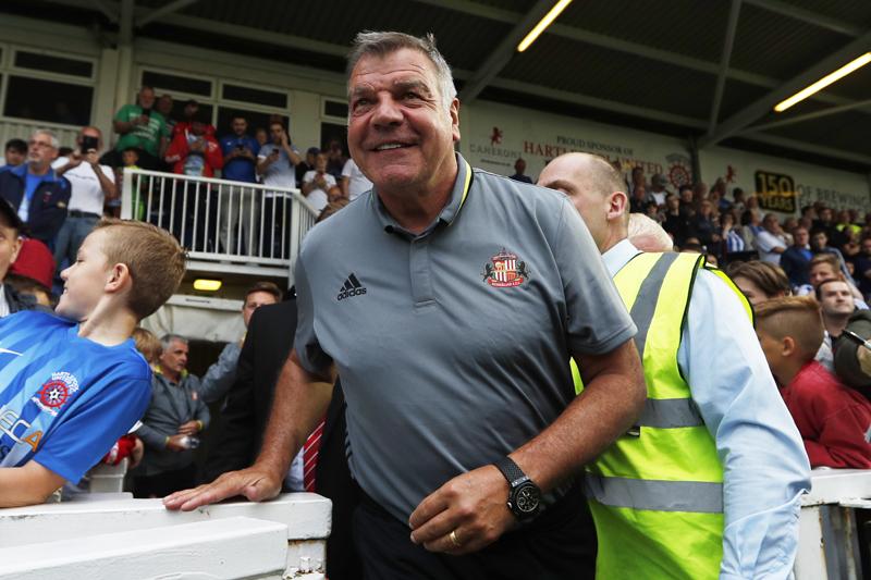 Sunderland manager Sam Allardyce before the matchn at Victoria Park on July 20, 2016. Photo: Reuters