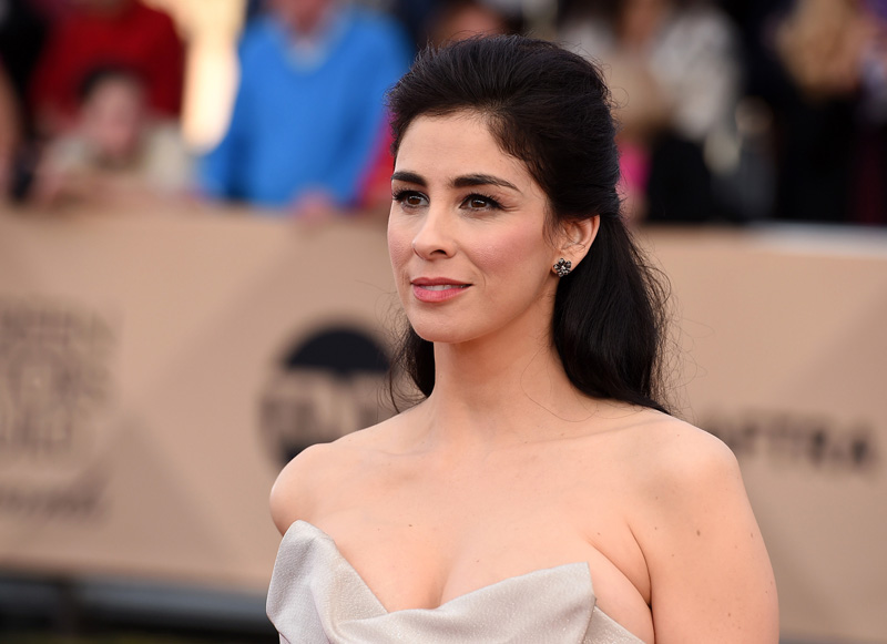 FILE - In this January 30, 2016, file photo, Sarah Silverman arrives at the 22nd annual Screen Actors Guild Awards at the Shrine Auditorium & Expo Hall in Los Angeles. Photo: AP