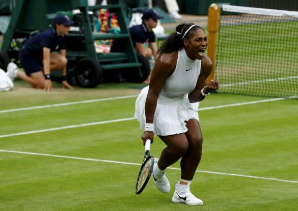 Britain Tennis - Wimbledon - All England Lawn Tennis & Croquet Club, Wimbledon, England - 1/7/16 USA's Serena Williams celebrates winning her match against USA's Christina McHale REUTERS/Stefan Wermuth