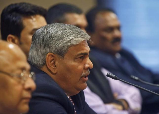 Shashank Manohar, newly-elected president of Board of Control for Cricket in India (BCCI), speaks during a news conference in Mumbai October 4, 2015. REUTERS/Shailesh Andrade/Files
