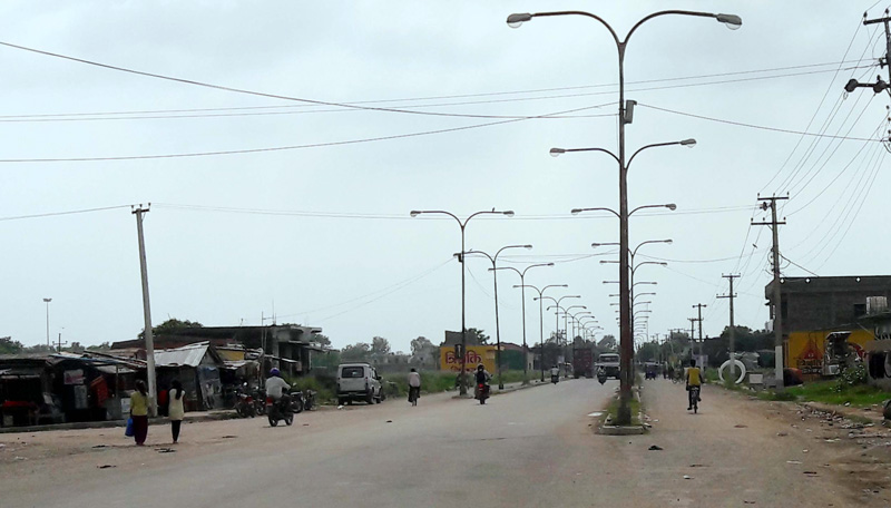 A point of road section, Sirsiya Dry Port-Parwanipur-Pathlaiya. Photo: Ram Sarraf-File.